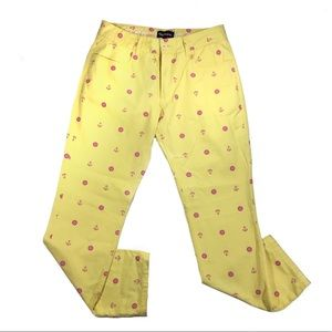 Pink dolphin size 30 yellow pants pink anchors